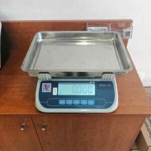 ζυγαριά εργαστηρίου TEM SRP με βαθύ inox ταψί