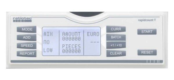 καταμετρητής χαρτονομισμάτων ratiotec rapidcount t225