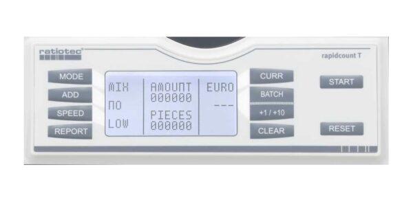 καταμετρητής χαρτονομισμάτων ratiotec rapidcount t275