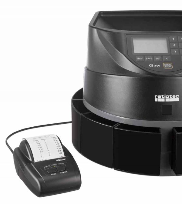 εκτυπωτής ratiotec rtp300 και καταμετρητής κερμάτων cs250
