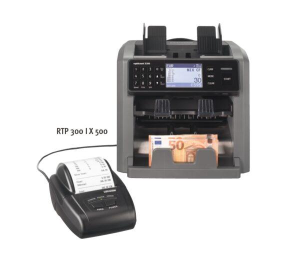 εκτυπωτής ratiotec rtp300 και καταμετρητής χαρτονομισμάτων x400