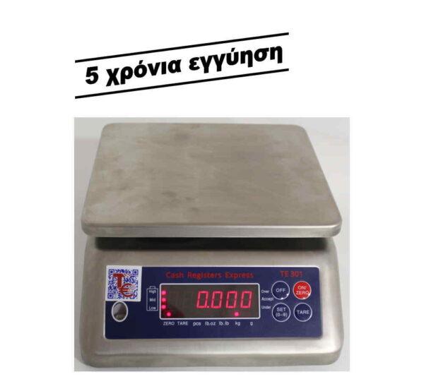 ζυγαριά εργαστηρίου 30 κιλών ΤΕ 301 ανοξείδωτη αδιάβροχη