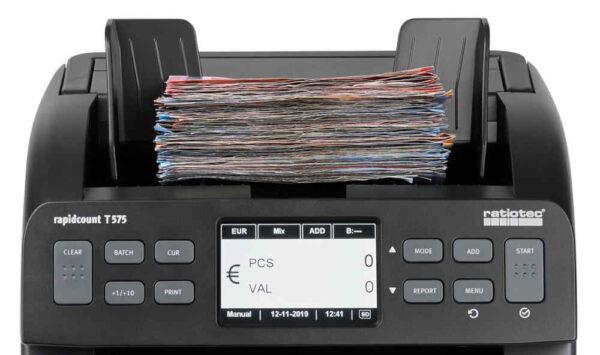καταμετρητής χαρτονομισμάτων μικτής καταμέτρησης ratiotec rapidcount T575