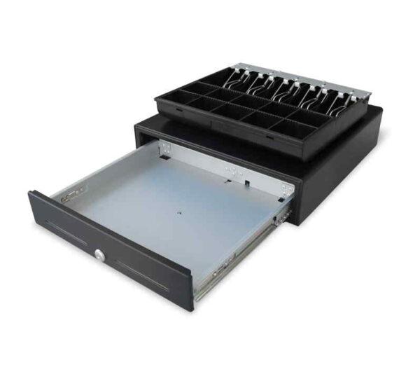 συρτάρι ταμειακής μηχανής ΤΕ 505Μ μεταλλικής ράγας μεγάλο βαριάς χρήσης